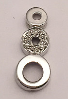 9ct White Gold Triple Circle Diamonds set Pendant