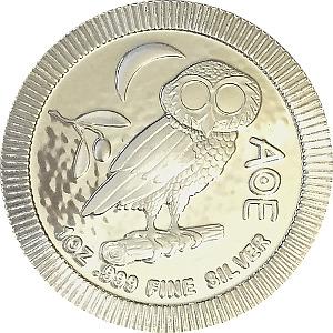 Athenian Owl 1oz 999 Fine Silver 2017 AOE Coin