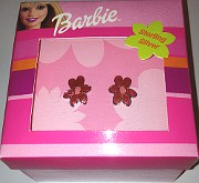 BARBIE Sterling Silver Flower Ear Studs (Boxed)