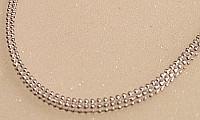 Silver Square Beaded design Chain 16inch