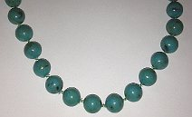 Long Turquoise Colour Beads String 1200mm