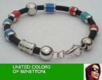 United Colors of Benetton Red Blue Beads Bracelet