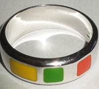 Silver UNITED COLORS OF BENETTON Ring