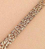 Gold bonded Nugget textured Bracelet 8mm gauge