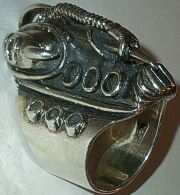 Sterling Silver Mens Biker Ring Heavy