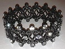 Black Wide Crystal set Bracelet