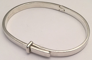 Sterling Silver Belt Buckle design Bangle