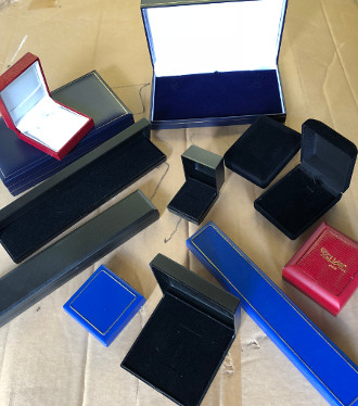 Jewellery Boxes Plastic/Leatherette CLEARANCE (x60) Only 49p each