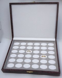 Burgundy 36 Ring Storage Case