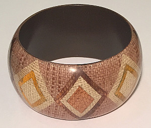Basket Weave BOHO design Wide 40mm Bangles (Pack of 6)