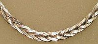 Sterling Silver Woven Herringbone Bracelet 185mm