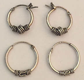 CELTIC Sterling Silver 12mm HOOP EARRINGS (pair)