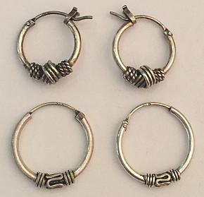 CELTIC Sterling Silver 12mm HOOP EARRINGS (pair)
