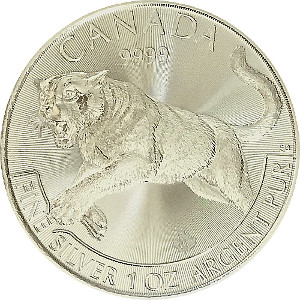 Cougar 2016 Predator 1oz Fine 9999 Silver Round
