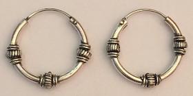 Sterling Silver 21mm Celtic Hoops