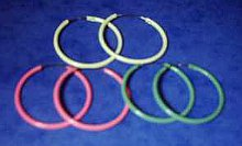 Coloured Hoop Earrings