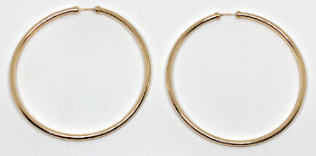 9ct Gold Capped Large Super Hoops 48mm x 2mm