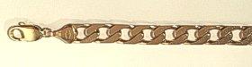 9 carat Gold Wide Curb Bracelet Solid Gold