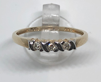 9ct Gold Trilogy Diamonds Kisses Ladies Ring