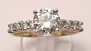 CZ Ladies Cocktail 9ct Gold Ring