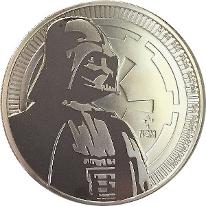 DARTH VADER Star Wars 1oz Fine Silver 999 Coin 2017