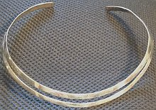 Sterling Silver Large Double Collar
