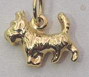 9ct Gold Dog design Pendant or Charm