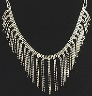 Sterling Silver Beaded Dropper Ladies Necklace