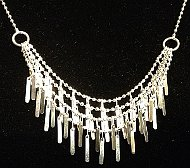 Sterling Silver 4 strand Drop Necklace