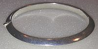 Elliptical Sterling Silver hinged Bangle