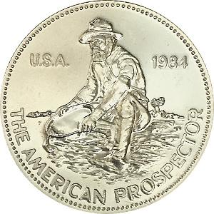 Prospector Engelhard 1oz Silver 999 Round 1984 Eagle