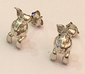 Sterling Silver Bunny Rabbit Ear Studs
