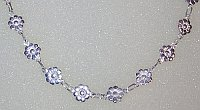 Sterling Silver Flowers shaped Necklace