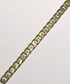 Extra Long 28inch 9 carat Gold Diamond Cut Curb Chain 710mm x 3.5mm