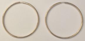 9ct Gold Hoop Earrings 35mm x 1.2mm