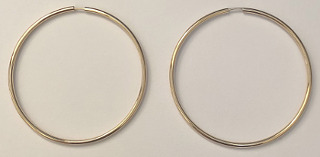 9ct Gold Hoop Earrings 42mm x 1.2mm