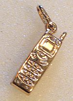 9ct Gold Mobile Phone Charm or Pendant