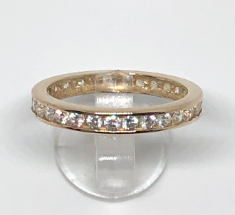 9ct Gold CZ Full Eternity Ring