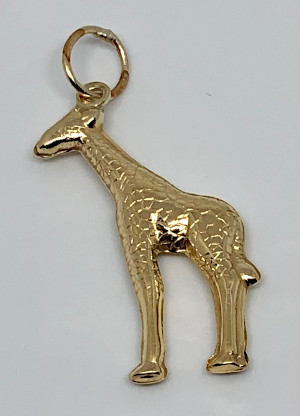 9ct Gold Giraffe Pendant or Charm
