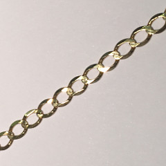 9ct Gold Wide Open Curb 20inch Chain 510mm x 5mm