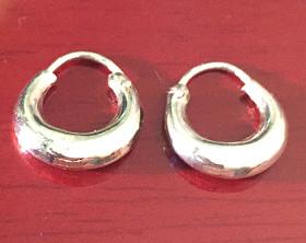 Sterling Silver Gypsy Earrings 14mm