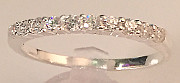 Half Eternity CZ 925 Silver Ring
