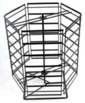 Hexagon Large Rotating Metal Counter Display Stand