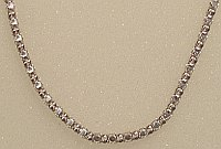 Faceted Sterling Silver 3mm wide Necklace 410mm