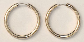 9ct Gold Super Hoops 21mm x 2.5mm