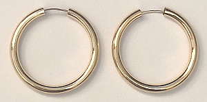 9ct Gold Super Hoops 25mm x 2.5mm