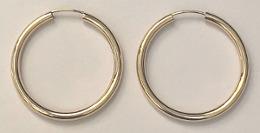 9ct Gold Large Hoop Earrings 25mm x 2mm