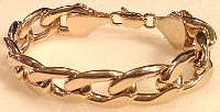 Heavy Curb Gold tone Bracelet 215mm