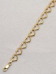 Open Heart 9ct Gold Ladies Bracelet