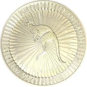 Australian Kangaroo 1oz 9999 Silver Coin 2017